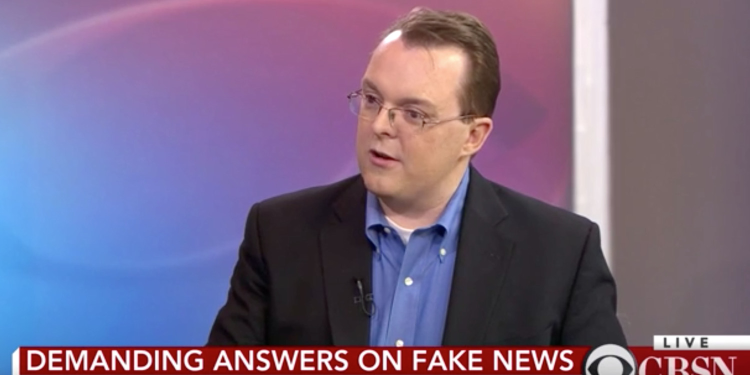 "Adam Sharp discusses ""fake news"" on CBSN"